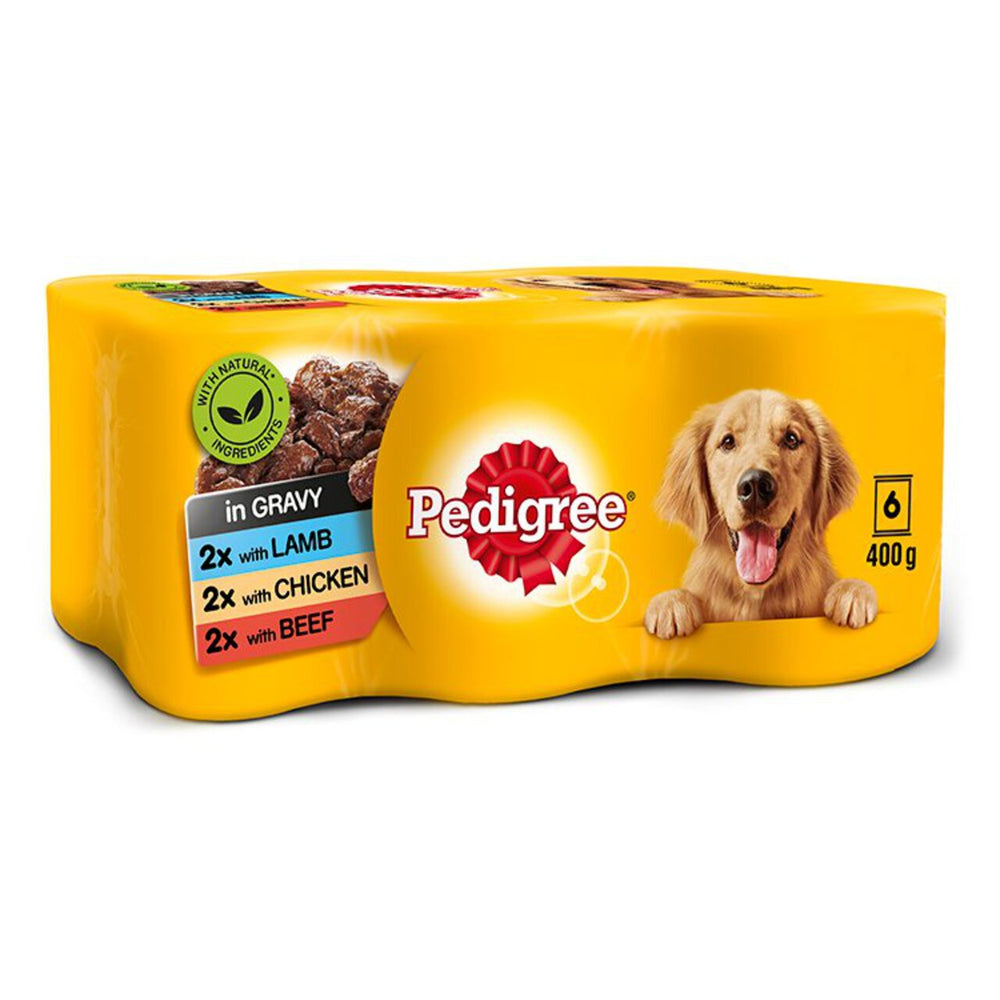 Pedigree Country Casserole in Gravy Dog Cans 6 Pack - 400g