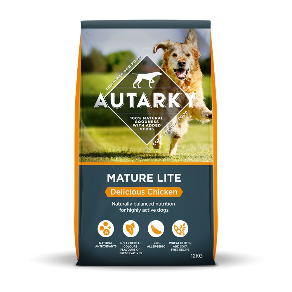 Autarky Mature Lite Delicious Chicken Dry Dog Food 12kg
