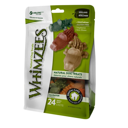 Whimzees Small Alligator Dog Chews - 24 Pack