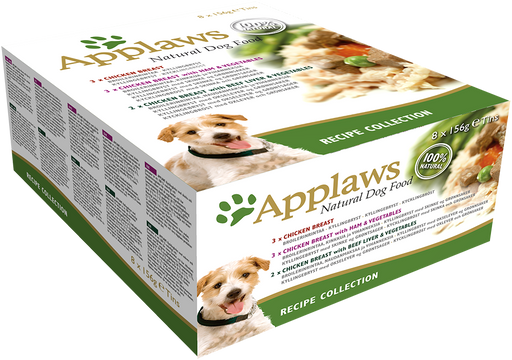 Applaws Dog Food Tin Recipe Selection Multipack - 8 x 156g