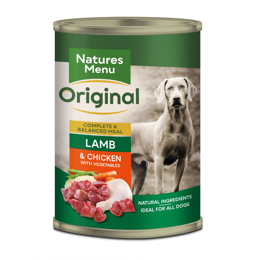 Natures Menu Lamb with Chicken Dog Food Cans 400g