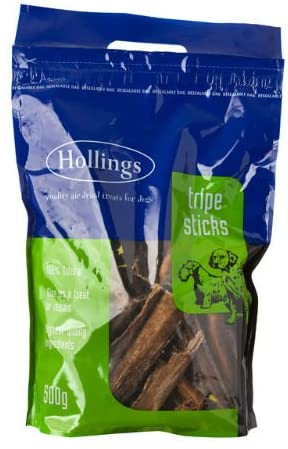 Hollings Sticks Tripe Carry Bag Natural Dog Chews 500g