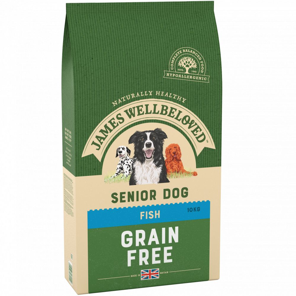 James Wellbeloved Fish Grain Free Senior Dry Dog Food - 10kg