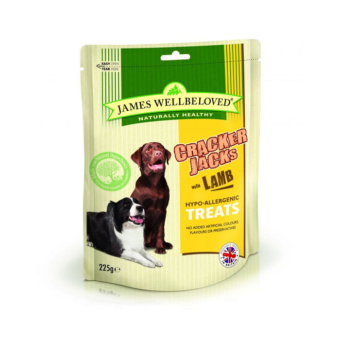 James Wellbeloved Lamb & Rice Crackerjacks Dog Treats - 225g