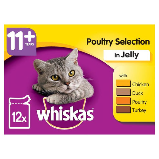 Whiskas Cat Pouches Poultry Selection 12 Pack - 100g