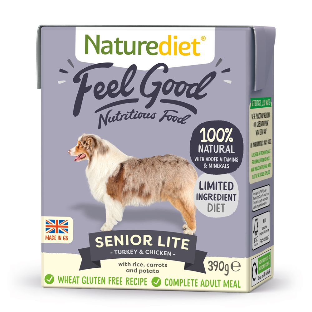 Naturediet Feel Good Senior Lite Dog Food 390g