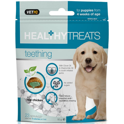 Mark & Chappell Teething Treats For Puppies Dog Treats 50g
