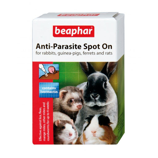 Beaphar Anti Parasite Spot On for Rabbits Guinea Pigs Ferrets and Rats 35g 4pip