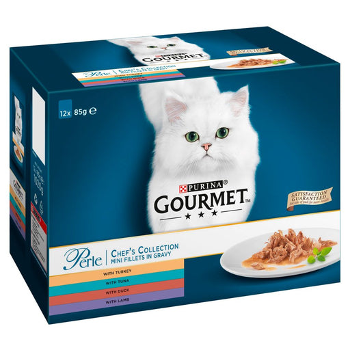 Gourmet Perle Pouch Chef Selection 12 Pk Cat Food - 85G