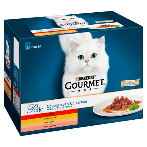 Gourmet Perle Pouch Connoisseurs 12 Pack Cat Food - 85G