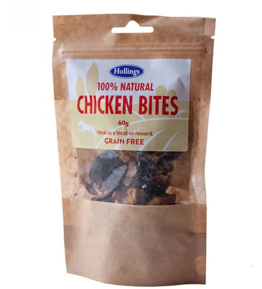 Hollings Natural Chicken Bites 60g