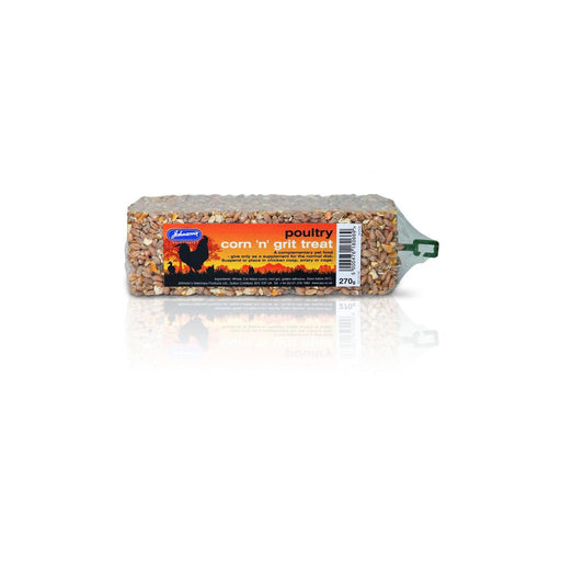 Johnsons Poultry Grit/Seed Bar 270g