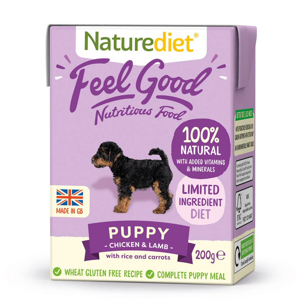 Naturediet Feel Good Puppy Dog Food - 8 x 200g