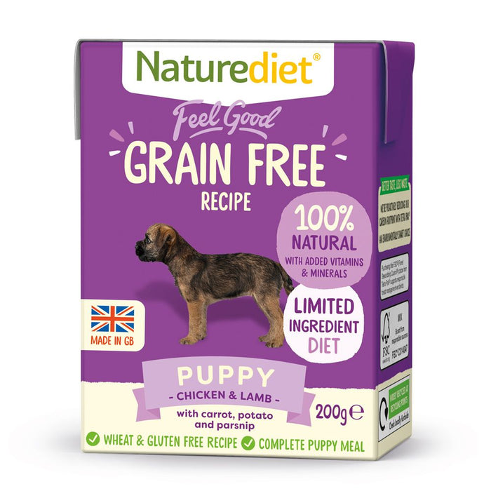 Naturediet Feel Good Grain Free Recipe Puppy Dog Food 200g