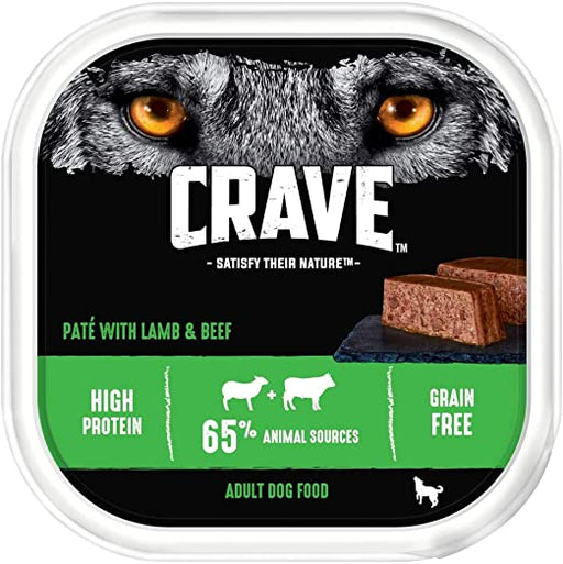 Crave Dog Tray with Lamb & Beef in Loaf 300g