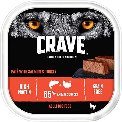 Crave Dog Tray with Turkey & Salmon in Loaf 300g