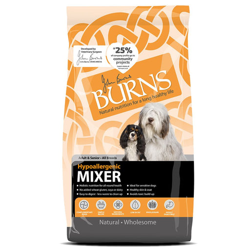 Burns Hypoallergenic Mix Dry Dog Food - 2kg