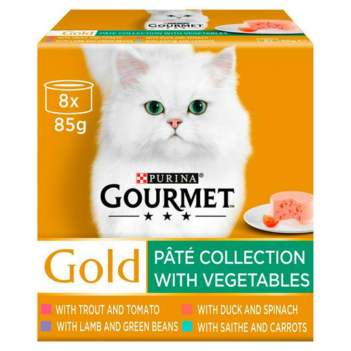 Gourmet Gold Pate Collection with Vegetables 8x85g