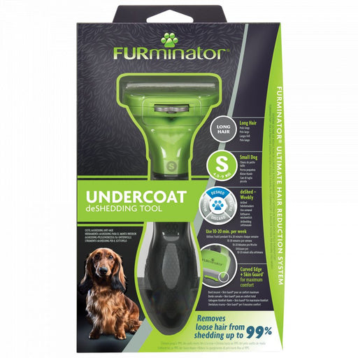 Furminator Deshedding Tool for Small Dogs With Long Hair