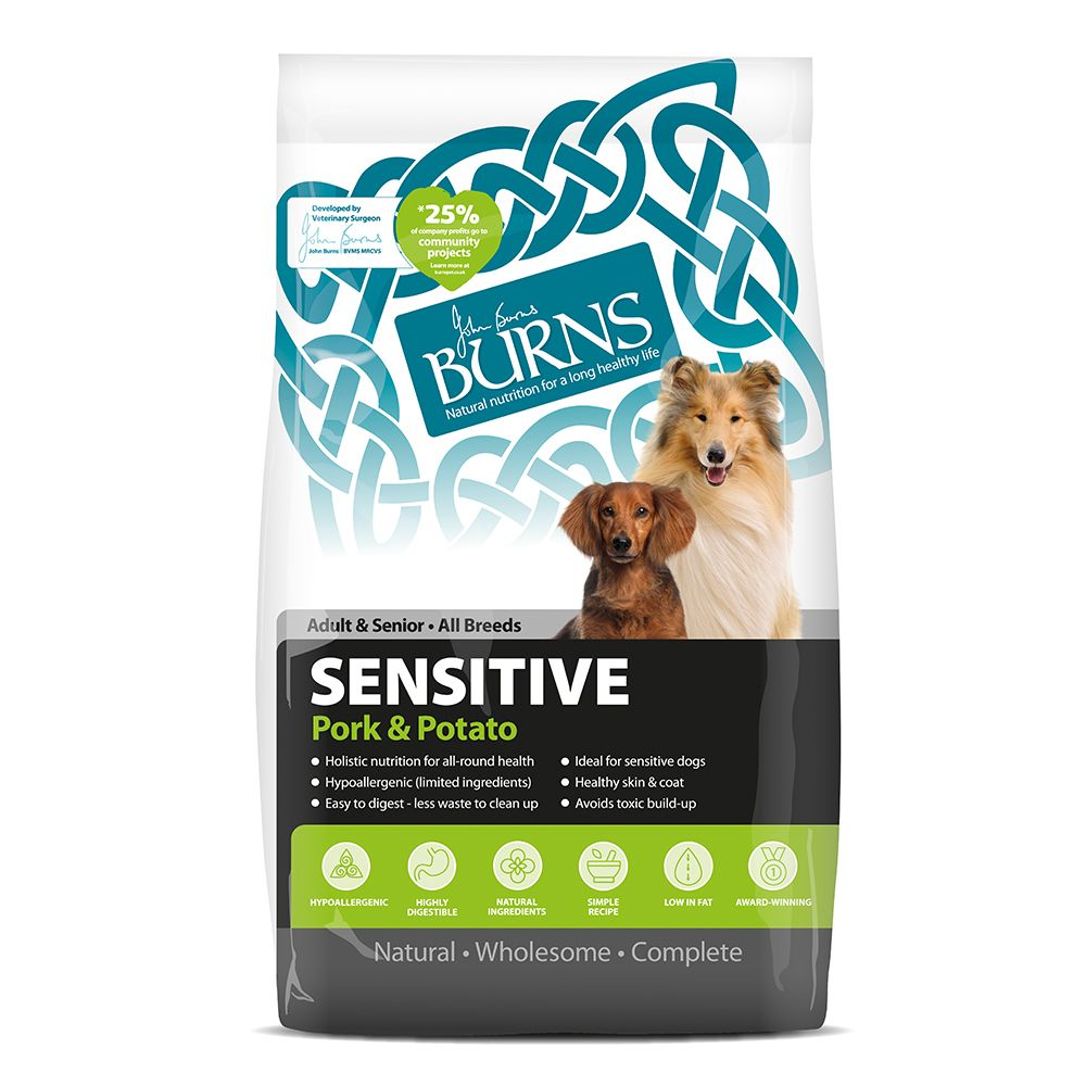 Burns Sensitive Pork & Potato Dog Food - 6kg