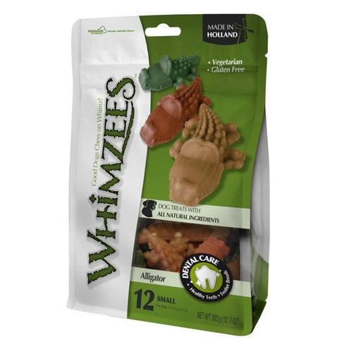 Whimzees Medium Alligator Dog Chews 12 Pack