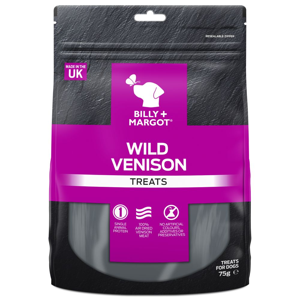 Billy & Margot Venison Dog Treats - 75g