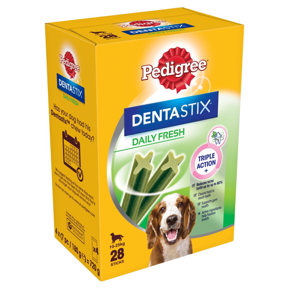 Pedigree Dentastix Fresh Medium Dog Treats 28 Sticks