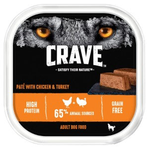 Crave Dog Tray with Chicken & Turkey in Loaf 300g