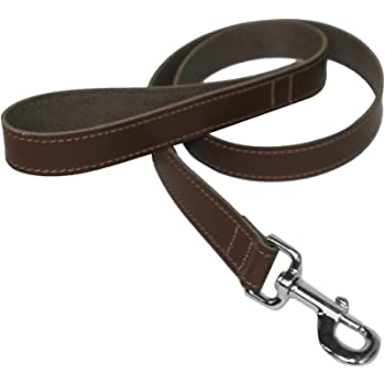 Ancol Vintage Leather Padded Lead Chestnut