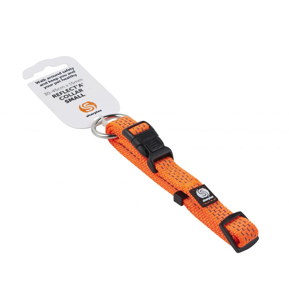 Walk 'R' Cise Reflecta Orange Hi Viz Collar Small 30cmx15mm