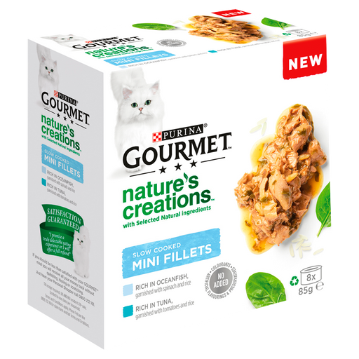 Gourmet Nature's Creations Slow Cooked Mini Fillets Fish 8x85g