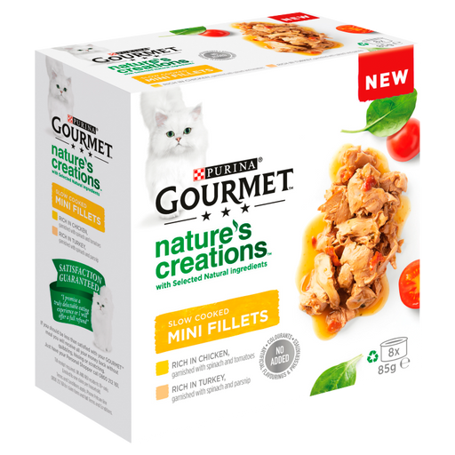 Gourmet Nature's Creations Slow Cooked Mini Fillets Poultry 8x85g