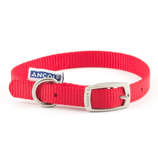 Ancol Heritage Nylon Collar Red