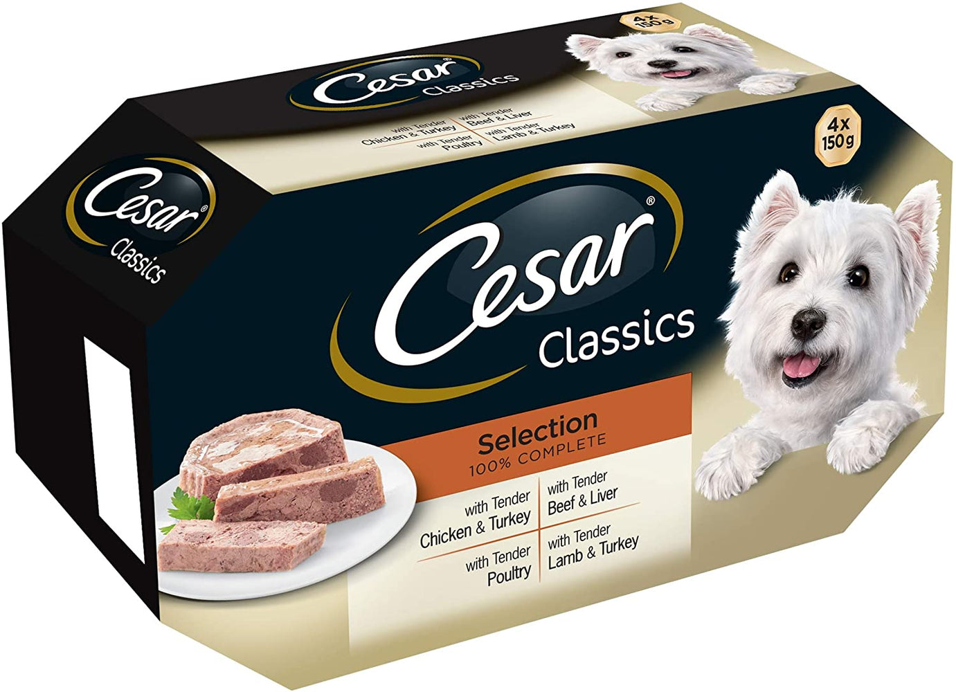 Cesar Tray Classics Selection 4 Pack - 150g