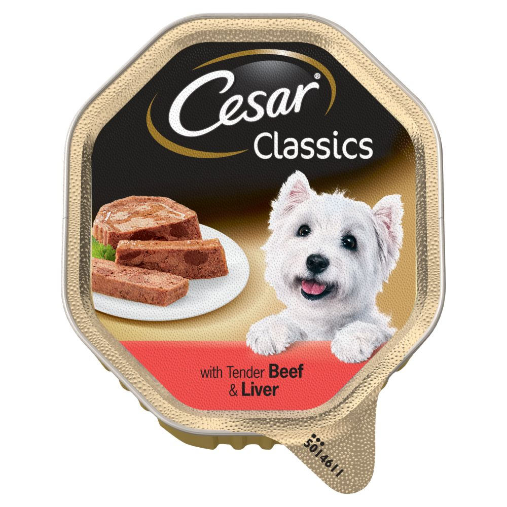 Cesar Tray Classics with Tender Beef & Liver 150g