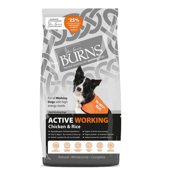 Burns Active Dry Dog Food 12kg