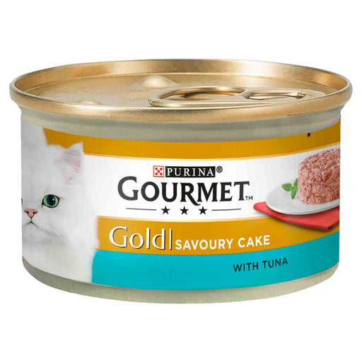 Gourmet Gold Savoury Cake Tuna Cat Food Cans 12 x 85g