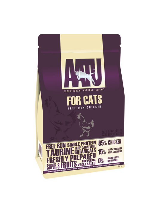 AATU 85/15 Grain Free Chicken Dry Cat Food - 3kg