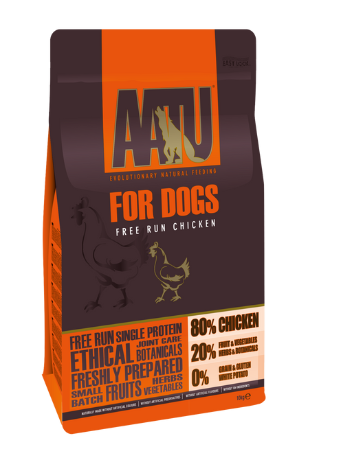 AATU 80/20 Grain Free Chicken Dry Dog Food - 10kg