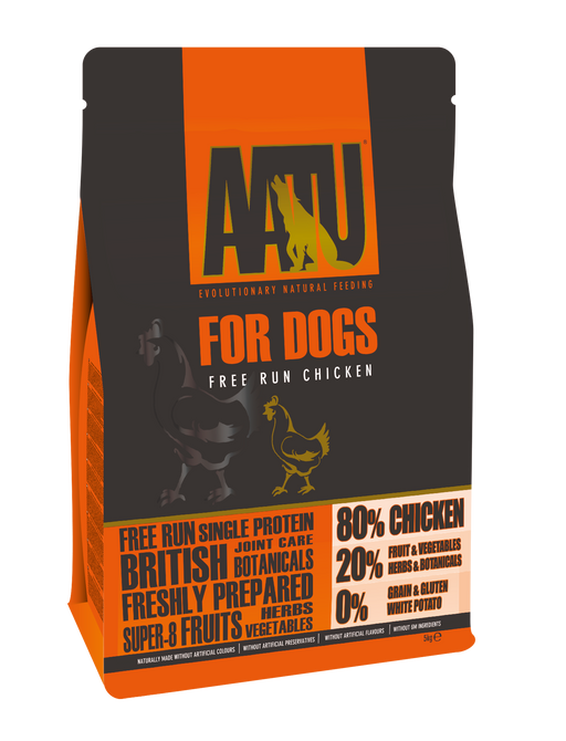 AATU 80/20 Grain Free Chicken Dry Dog Food - 5kg
