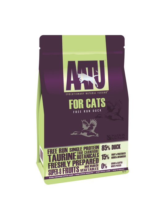 AATU 85/15 Grain Free Duck Dry Cat Food - 3kg