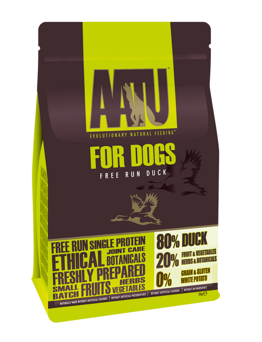 AATU 80/20 Grain Free Duck Dry Dog Food - 5kg