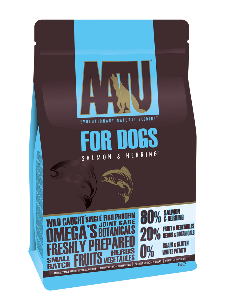 AATU 80/20 Grain Free Salmon Dry Dog Food - 5kg