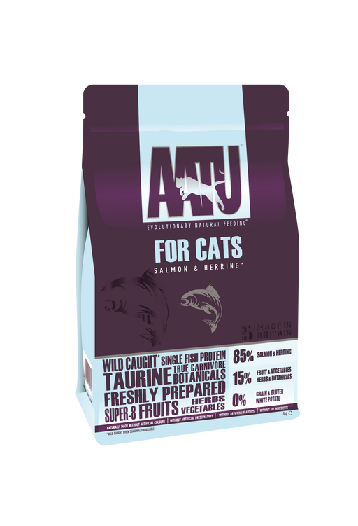 AATU 85/15 Grain Free Salmon & Herring Dry Cat Food - 3kg