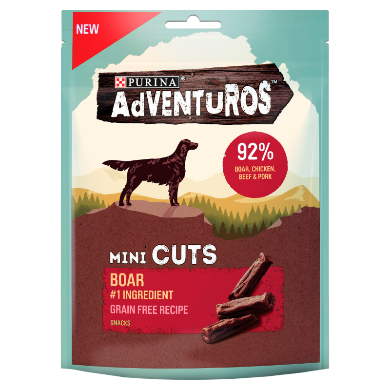 Adventuros Mini Cuts Wild Boar Dog Treats - 100g 1