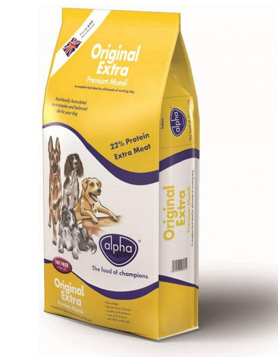Alpha Original Extra Dry Dog Food - 15kg