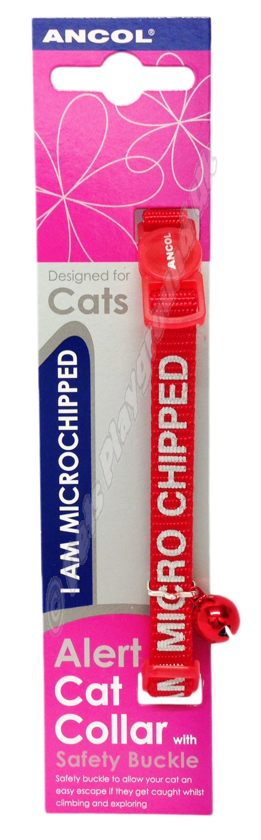 Ancol Cat Collar I Am Micro-chipped