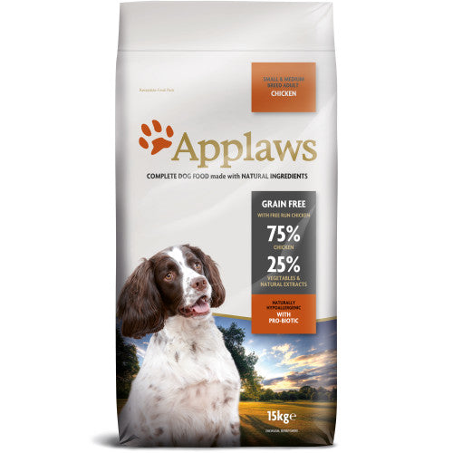Applaws Chicken Small & Medium Adult Dog Food - 15kg