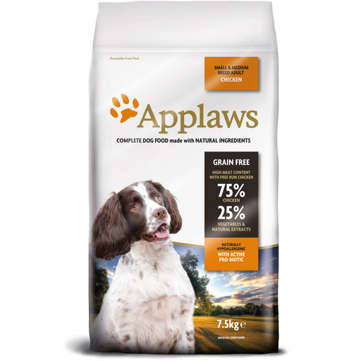 Applaws Chicken Small & Medium Adult Dog Food - 7.5kg 1