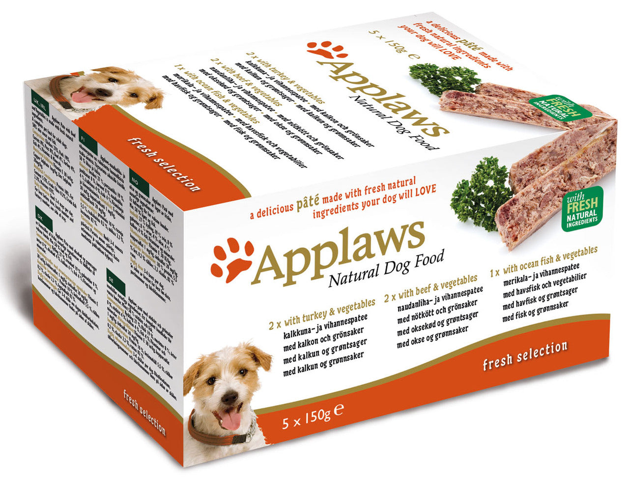 Applaws Fresh Selection Dog Pate Mixed Multipack 5 x 150g